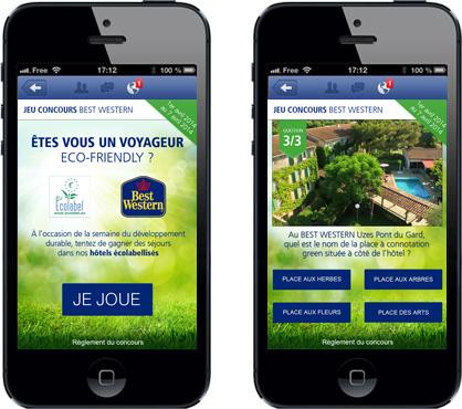 Jeu-concours Facebook Mobile