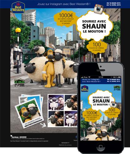 Concours Instagram<br/>Shaun le Mouton