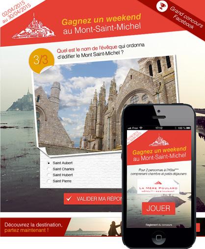 Jeu-concours Facebook Mont-Saint-Michel