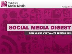 Social Media Digest : retour sur l'actualité de Mars 2013 en images