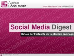 Social Media Digest n°5: retour sur l'actualité de Septembre en images