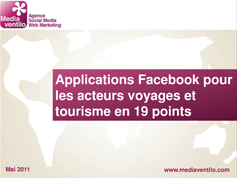 Applications Facebook pour les acteurs voyages et tourisme