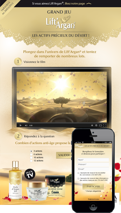 Grand Jeu Lift'Argan