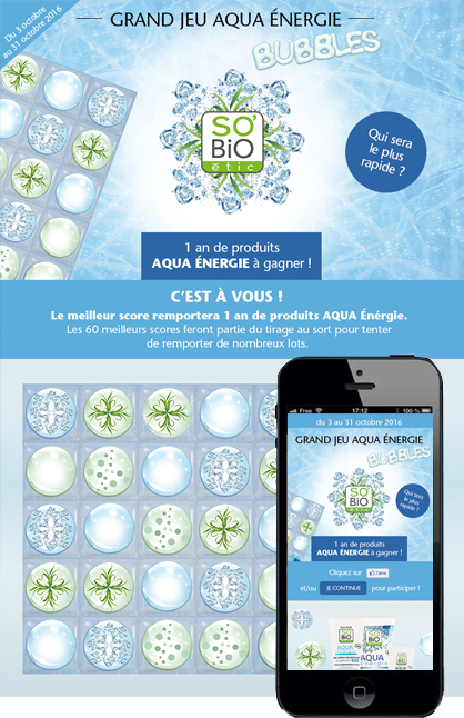 Grand Jeu Aqua Energie Bubbles